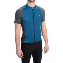 Pearl Izumi ELITE Semi-Form Cycling Jersey - Full Zip, Short Sleeve (For Men) in Mykonos/Shadow Grey - Closeouts