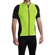 Pearl Izumi ELITE Semi-Form Cycling Jersey - Full Zip, Short Sleeve (For Men) in Screaming Yellow/Black - Closeouts