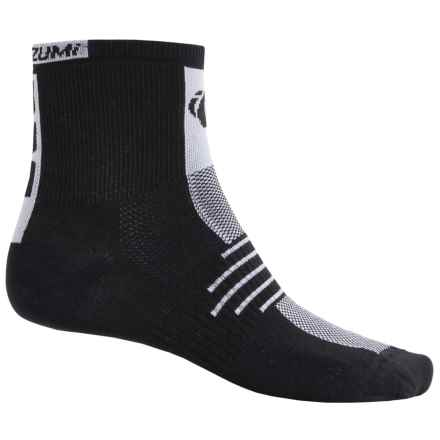 Pearl Izumi ELITE Socks - Quarter Crew (For Men) in Black - Closeouts