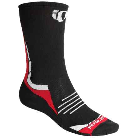 Pearl Izumi ELITE Tall Socks - Crew (For Men and Women) in Post Up True Red - Closeouts