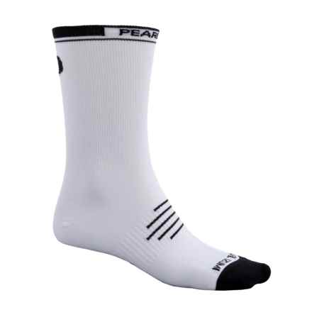 Pearl Izumi ELITE Tall Socks - Crew (For Men and Women) in White - Closeouts