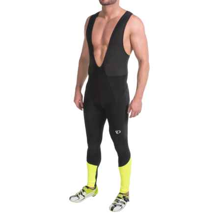 Pearl Izumi Elite Thermal Cycling Bib Tights (For Men) in Black/Screaming Yellow - Closeouts