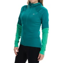 Pearl Izumi ELITE Thermal Cycling Hoodie - Full Zip (For Women) in Deep Lake/Gumdrop - Closeouts