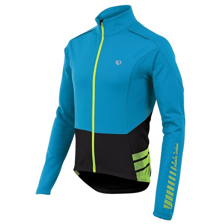 Pearl Izumi ELITE Thermal Cycling Jersey - Full Zip, Long Sleeve (For Men) in Electric Blue
