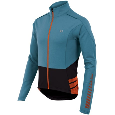 Pearl Izumi ELITE Thermal Cycling Jersey - Full Zip, Long Sleeve (For Men) in Petrol Blue