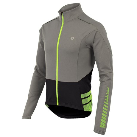 Pearl Izumi ELITE Thermal Cycling Jersey - Full Zip, Long Sleeve (For Men) in Shadow Grey/Black