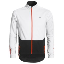 Pearl Izumi ELITE Thermal Cycling Jersey - Full Zip, Long Sleeve (For Men) in White/Black
