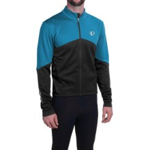 Pearl Izumi ELITE Thermal Cycling Jersey - Long Sleeve (For Men) in Mykonos Blue/Black - Closeouts