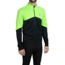 Pearl Izumi ELITE Thermal Cycling Jersey - Long Sleeve (For Men) in Screaming Green/Black - Closeouts