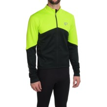 Pearl Izumi ELITE Thermal Cycling Jersey - Long Sleeve (For Men) in Screaming Yellow/Black - Closeouts