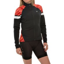 Pearl Izumi ELITE Thermal Cycling Jersey - Long Sleeve (For Women) in Black/Living Coral - Closeouts