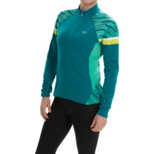 Pearl Izumi ELITE Thermal Cycling Jersey - Long Sleeve (For Women) in Deep Lake/Gumdrop - Closeouts