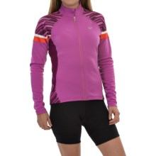 Pearl Izumi ELITE Thermal Cycling Jersey - Long Sleeve (For Women) in Meadow Mauve/Dark Purple - Closeouts