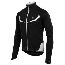 Pearl Izumi Elite Thermal Fleece Convertible Jacket (For Men) in Black/White - Closeouts