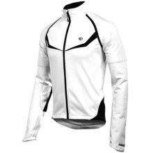 Pearl Izumi Elite Thermal Fleece Convertible Jacket (For Men) in White/Black - Closeouts