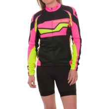 Pearl Izumi ELITE Thermal LTD Cycling Jersey - Full Zip, Long Sleeve (For Women) in Build Screaming Pink - Closeouts