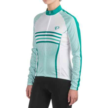 Pearl Izumi ELITE Thermal LTD Cycling Jersey - Full Zip, Long Sleeve (For Women) in Classic Dynasty Green - Closeouts