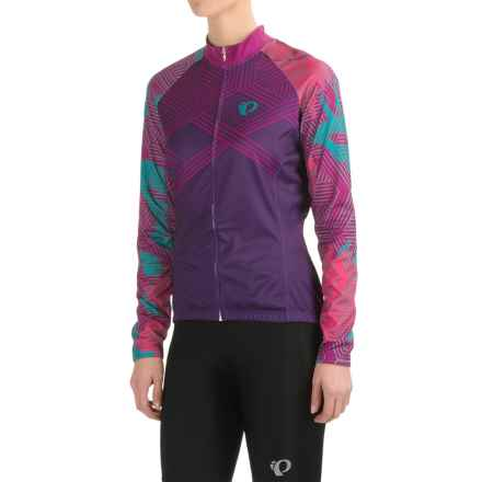 Pearl Izumi ELITE Thermal LTD Cycling Jersey - Full Zip, Long Sleeve (For Women) in Floral Wineberry - Closeouts