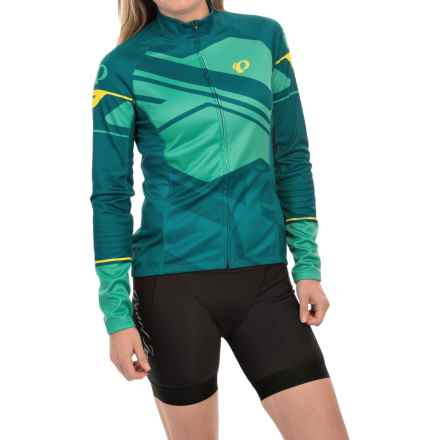 Pearl Izumi ELITE Thermal LTD Cycling Jersey - Full Zip, Long Sleeve (For Women) in Insert Gumdrop - Closeouts
