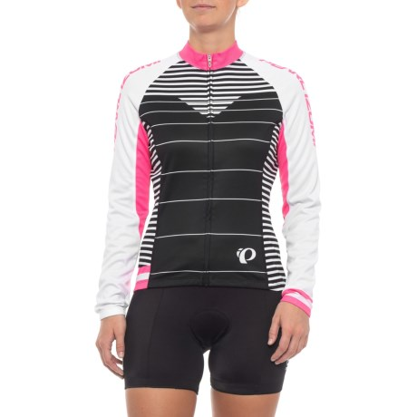 Pearl Izumi ELITE Thermal LTD Cycling Jersey - Full Zip, Long Sleeve (For Women) in Moto Screaming Pink