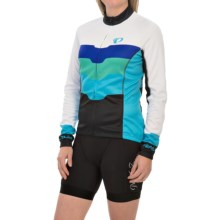 Pearl Izumi ELITE Thermal LTD Cycling Jersey - Full Zip, Long Sleeve (For Women) in Team Pi Blue Atoll - Closeouts