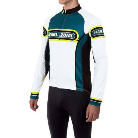 Pearl Izumi ELITE Thermal LTD Cycling Jersey - Long Sleeve (For Men) in Arcade Petrol Blue