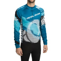 Pearl Izumi ELITE Thermal LTD Cycling Jersey - Long Sleeve (For Men) in Elite Tm/Blue Atoll