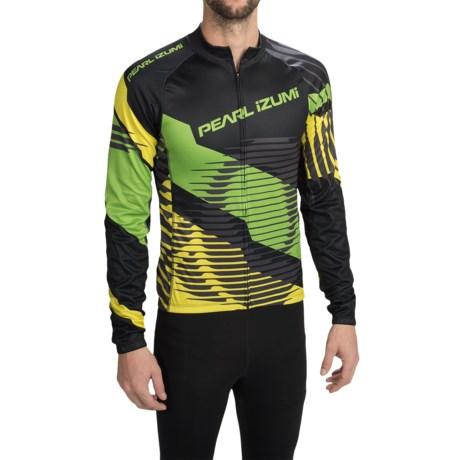 Pearl Izumi ELITE Thermal LTD Cycling Jersey - Long Sleeve (For Men) in Elite Tm/Green Flash