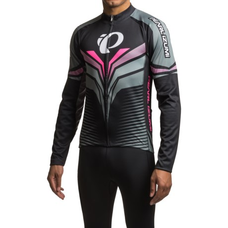 Pearl Izumi ELITE Thermal LTD Cycling Jersey - Long Sleeve (For Men) in Elite Tm Stealth