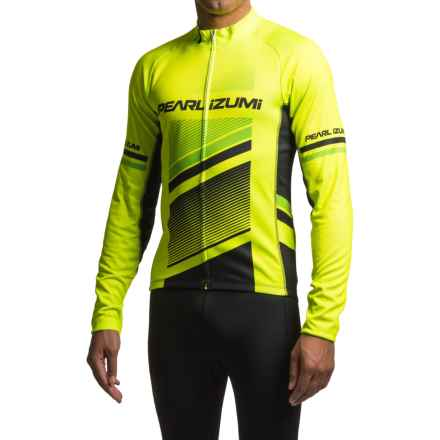 Pearl Izumi ELITE Thermal LTD Cycling Jersey - Long Sleeve (For Men) in Razor Screaming Yellow - Closeouts