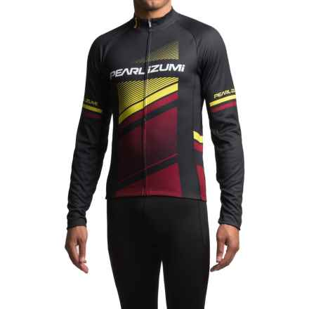 Pearl Izumi ELITE Thermal LTD Cycling Jersey - Long Sleeve (For Men) in Razor Tibetan Lime - Closeouts