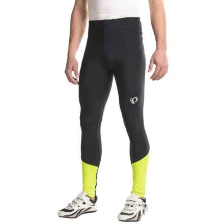 Pearl Izumi ELITE Thermal Tights (For Men) in Black/Screaming Yellow - Closeouts