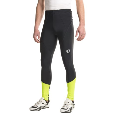 Pearl Izumi ELITE Thermal Tights (For Men) in Black/Screaming Yellow