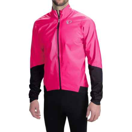 Pearl Izumi ELITE WxB Cycling Jacket - Waterproof (For Men) in Screaming Pink/Black - Closeouts
