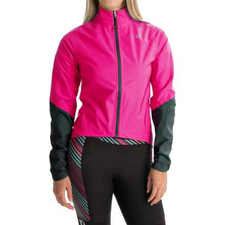 Pearl Izumi ELITE WxB Cycling Jacket - Waterproof (For Women) in Screaming Pink/Black - Closeouts