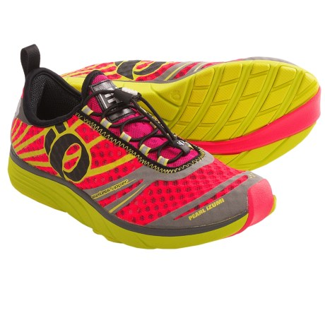 Pearl Izumi EM Tri N2 Running Shoes (For Women) in Electric Pink/Lime