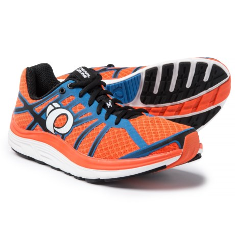 Pearl Izumi E:MOTION Road M3 V2 Running Shoes (For Men) in Red Orange/White