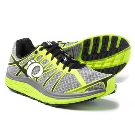Pearl Izumi E:MOTION Road M3 V2 Running Shoes (For Men) in Smoked Pearl/Lime Punch - Closeouts