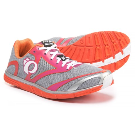 Pearl Izumi E:MOTION Road N0 V2 Running Shoes (For Women) in Silver/Clementine