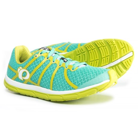 Pearl Izumi E:MOTION Road N1 v2 Running Shoes (For Women) in Aqua Mint/Lime Punch