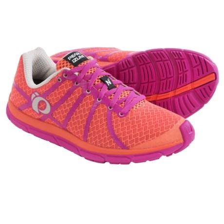 Pearl Izumi E:MOTION Road N1 v2 Running Shoes (For Women) in Living Coral/Rose Violet