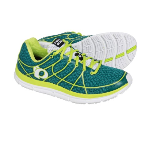 Pearl Izumi E:MOTION Road N2 v2 Running Shoes (For Women) in Deep Lake/Lime Punch