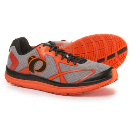 Pearl Izumi E:MOTION Road N2 V3 Running Shoes (For Men) in Silver/Red Orange - Closeouts