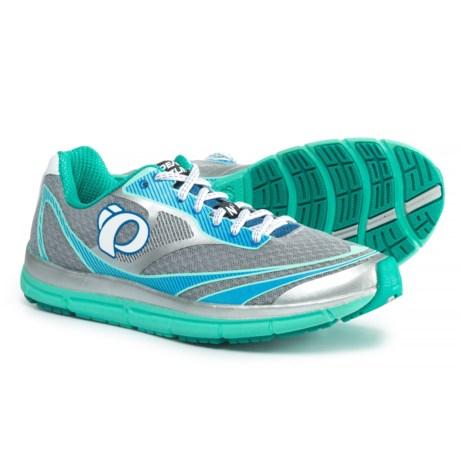 Pearl Izumi E:MOTION Road N2 V3 Running Shoes (For Women) in Silver/Aqua Mint