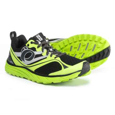 Pearl Izumi E:MOTION Trail M2 V2 Running Shoes (For Men) in Black/Lime Punch - Closeouts