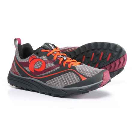 Pearl Izumi E:MOTION Trail M2 V2 Running Shoes (For Men) in Shadow Grey/Spicy Orange - Closeouts