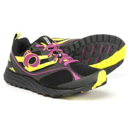 Pearl Izumi E:MOTION Trail M2 V2 Running Shoes (For Women) in Black/Meadow Mauve - Closeouts