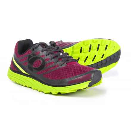 Pearl Izumi E:MOTION Trail N1 V2 Running Shoes (For Men) in Beet Red/Lime Punch - Closeouts