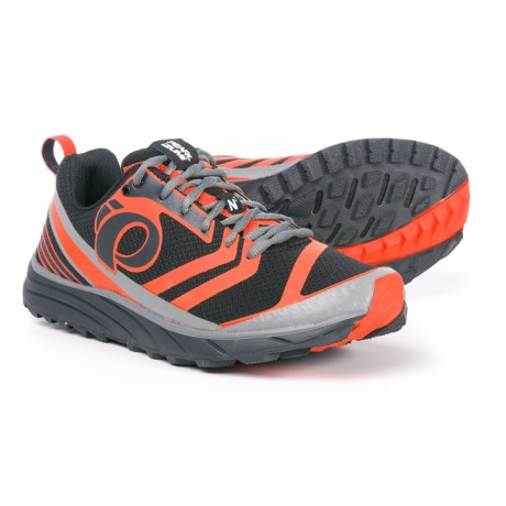Pearl Izumi E:MOTION Trail N2 V2 Running Shoes (For Men) in Shadow Grey/Spicy Orange