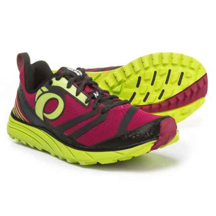 Pearl Izumi E:MOTION Trail N2 V2 Running Shoes (For Women) in Cerise/Lime Punch - Closeouts